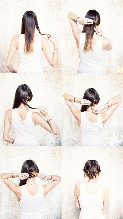 Super cute triple-bun hairstyle