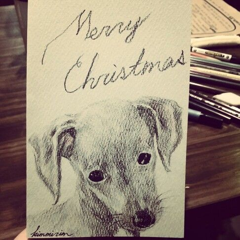 christmas cards by mirim. prisma color
