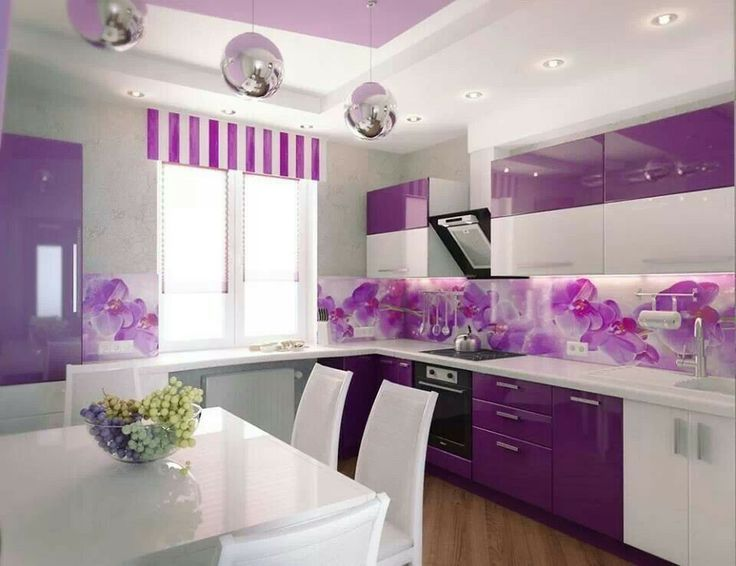 purple kitchen decor idea for your home would you try it - Violet Kitchen 2015