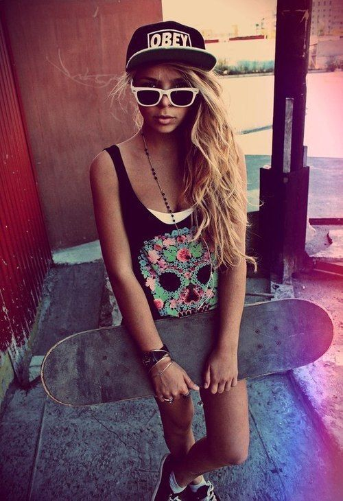 girl, swag, obey, skate | Editoriais | Pinterest | Girl ...