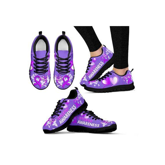 Epilepsy Awareness Sneakers| Epilepsy Advocate|Epilepsy