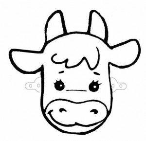 Делаем своими руками вместе с детьми детскую карнавальную маску коровы из бумаги. Маска коровы из бумаги.jpg