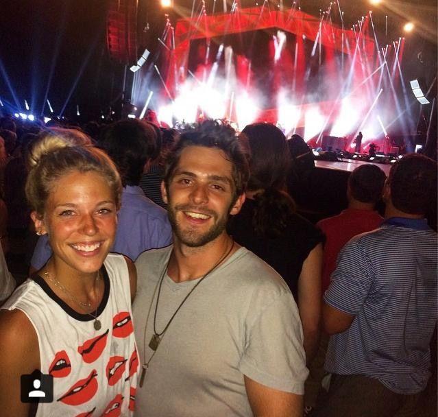 Thomas Rhett and his wife Lauren