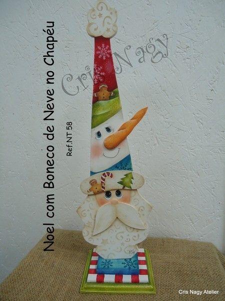 Noel com Boneco de Neve no Chapéu