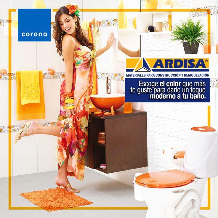 Ahorre espacio y agua con el innovador diseño del sanitario Happy Bicolor. Escoja el color que más le guste para darle un toque moderno a su baño.