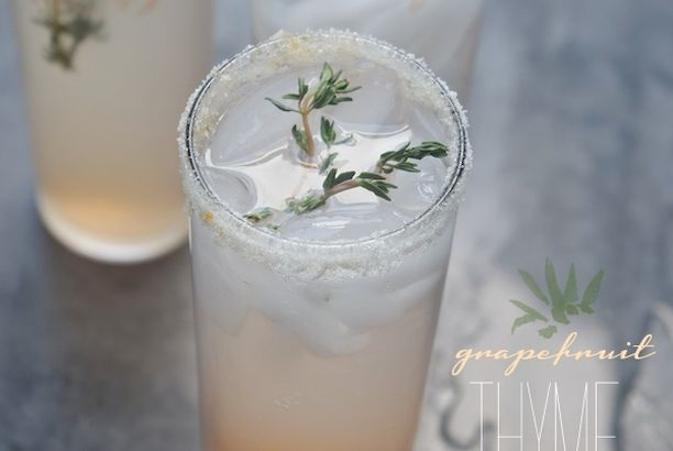 grapefruit thyme cocktail shutterbean grapefruit thyme cocktail ...