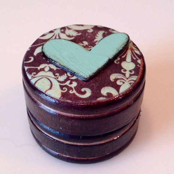 Petit bijou bois Box boîte à pilules fée des par LBCrystalCottage