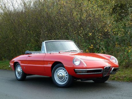 1967 Alfa Romeo Spider 1600 Duetto / Silverstone Auctions.  I remember saying to Larry, if we sold both our cars we could afford this.