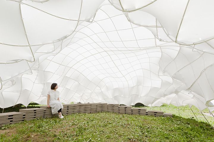 Weaving carbon fiber pavilion designed by University of Tokyo's T_ADs team » Retail Design Blog