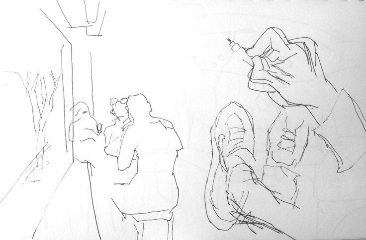 Sketch at downtown LA Starbucks