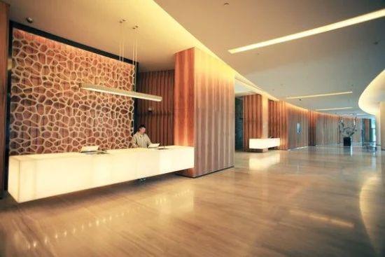 33 desain inspiratif meja resepsionis minimalis  Interior hotel, Design hotel