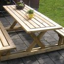 Picnic Table DIY  Made completely by 2x4s - separate the benches from the table for increased possibilities