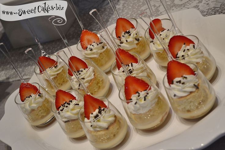 Tres Leches Shot Glasses Like The Decorating With