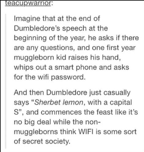 Muggleborns at Hogwarts. << Question. How would muggleborns charge their phones? Does magic work on phones?