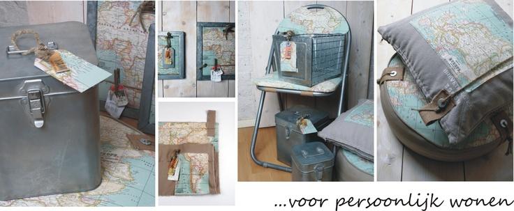 handgemaakte serie voor jongenskamer met wereldkaart van ontwerpstudio thuis met Moon http://www.thuismetmoon.nl/shop/23/wereldkaarten