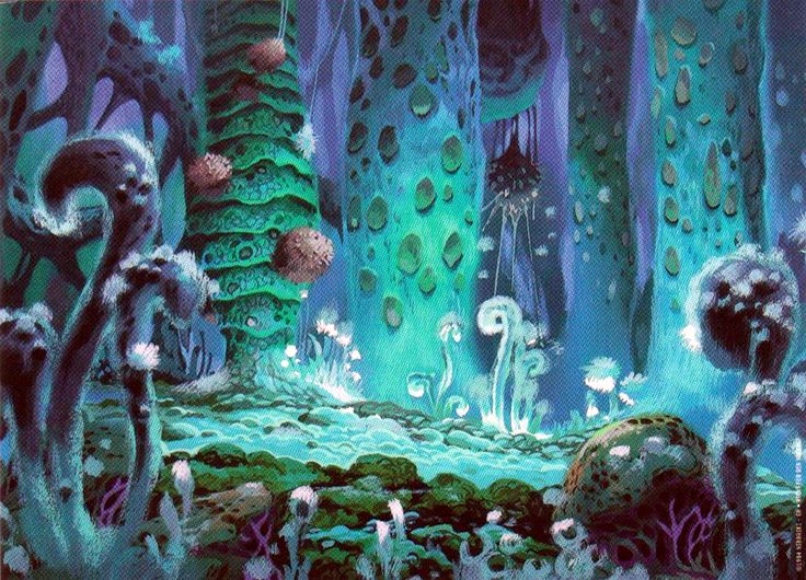 The forest - Nausicaa of the Valley of the Wind | Van Hayao Miyazaki  !!!!! Heel mooi , eco film