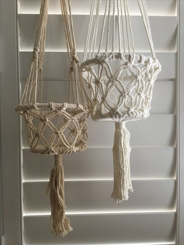 Buy On Line Macrame Hanging Baskets By Ocean Nomad Www