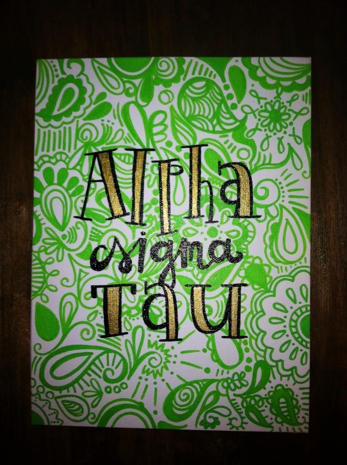 Pretty Alpha Sigma Tau canvas