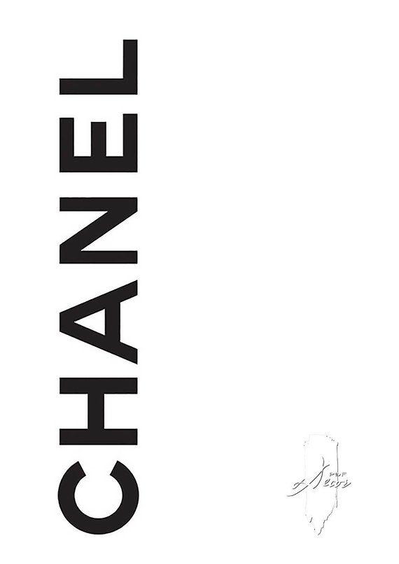 Chanel Poster Fashion Print Fashion Poster Black White Fashion Poster Chanel Logo Digital Download Fashion Art Modern Minimalist Art Chanel Poster Coco Chanel Poster Chanel Printable