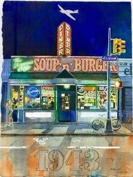 Daniel Authouart, Soup'n burger, Peinture