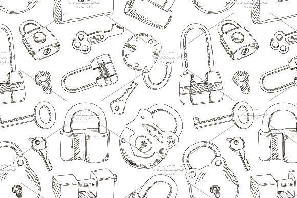 Locks and Keys pattern by Netkoff on @creativemarket