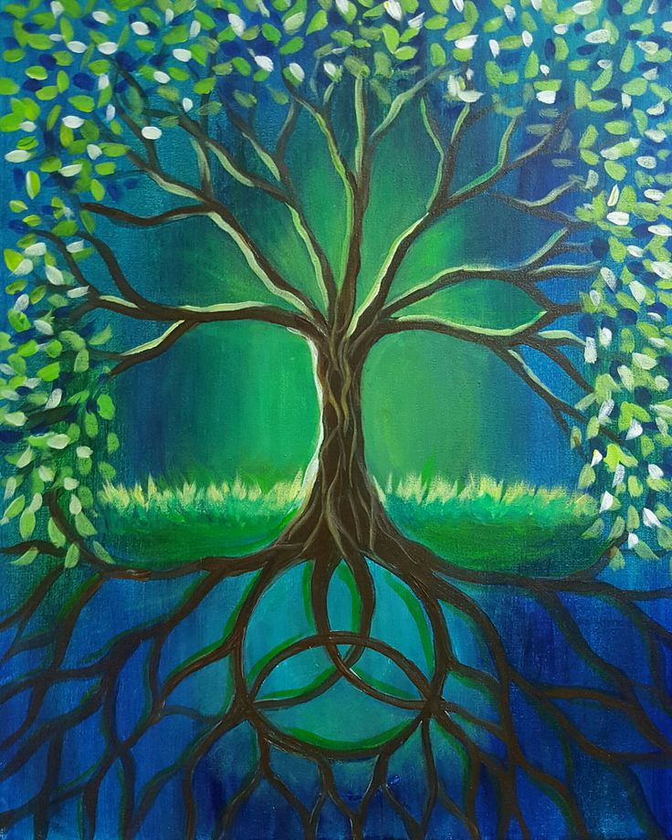 Best 10 Tree Paintings Ideas On Pinterest Painted Trees
