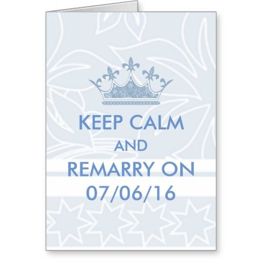 Wedding Vows Renewal Keep Calm Personalized Greeting Card
