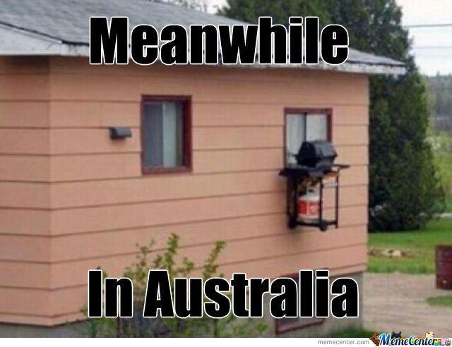 meanwhile in Australia....  bbq kitchen