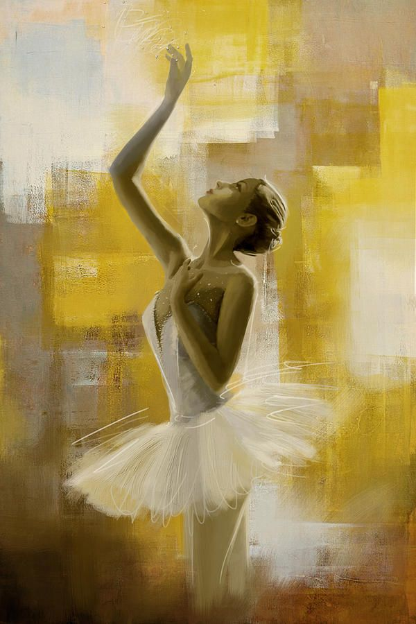 Ballerina painting, oil on canvas, by Corporate Art Task Force