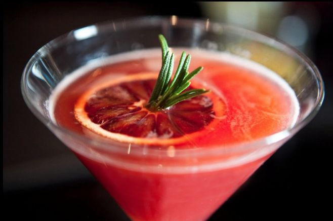 ... juice, blood orange puree, orange marmalade, rosemary, sparkling rose