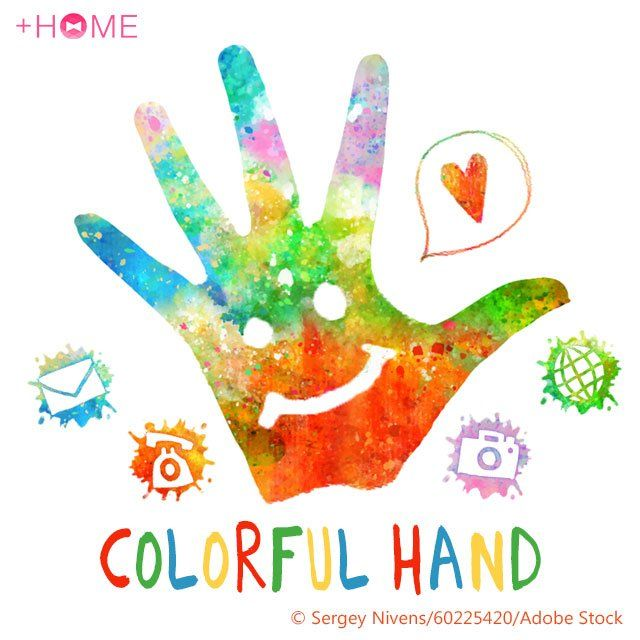 """""""Colorful Hand""""   This theme was made with Holi in mind, but you don't have to celebrate it to appreciate this cool theme!  Download Now:http://bit.ly/2lK2pmo  #cute #wallpaper #design #icon #beautiful #plushome #homescreen #widget #deco"""