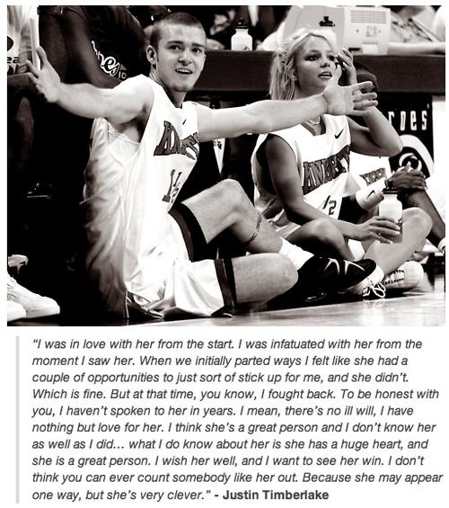 JT talking about Britney.