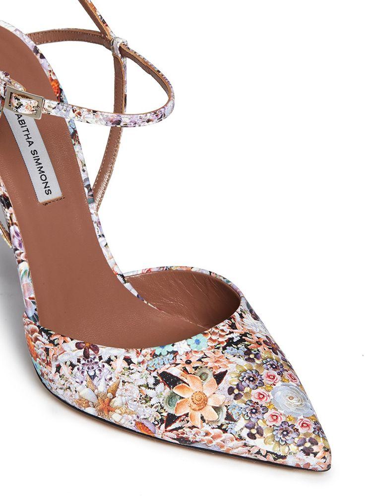TABITHA SIMMONS - Valentina' dizzy floral print silk pumps | Multi-colour Pump High Heels | Womenswear | Lane Crawford - Shop Designer Brands Online