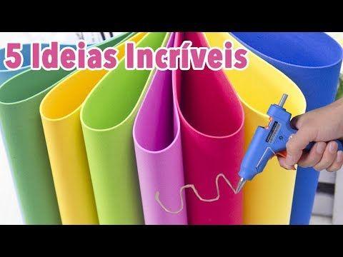 DIY - 5 IDEIAS em EVA para VENDER ou presentear - Artesanato EVA - Compilação - Segredos de Aline - YouTube