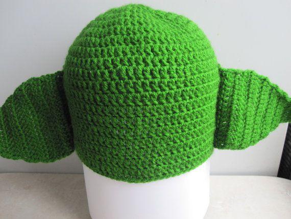 Green Yoda Hat Star Wars crochet Hat Crochet от NatalyZigZag
