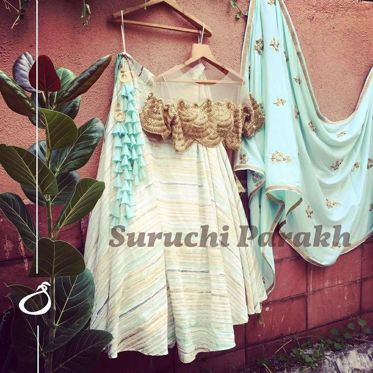 Deeply immersed in pastel love. Beautifully handcrafted blouse paired with this mesmerising powder blue dupatta and lovely skirt  dont forget to swoon over the pretty latkans.  26 June 2017