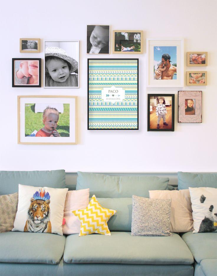 affiche faire part de naissance petit indien dancourt 2015 d coration. Black Bedroom Furniture Sets. Home Design Ideas