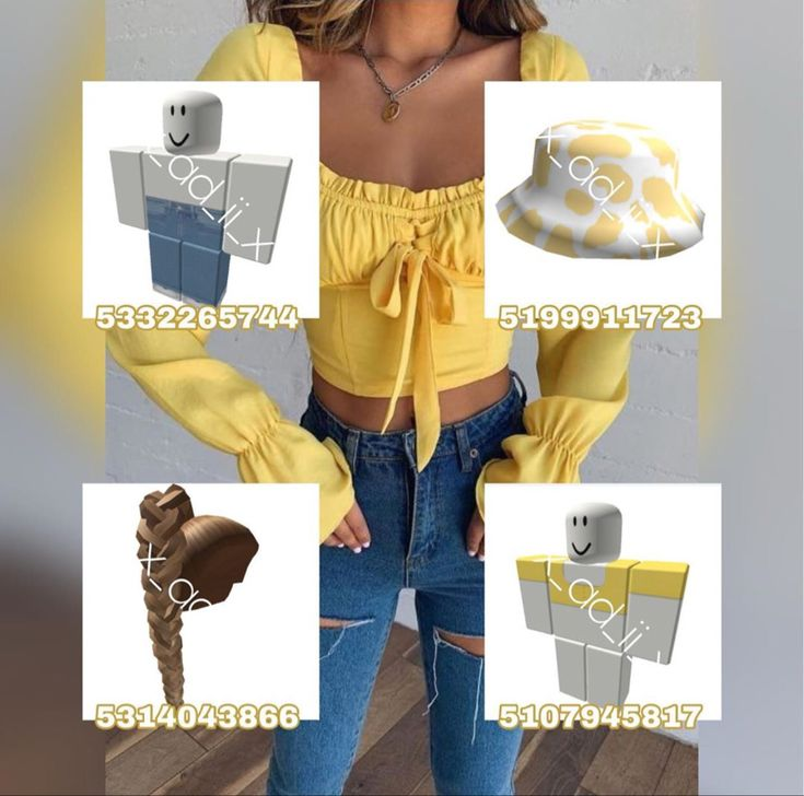 𝚈𝚎𝚕𝚕𝚘𝚠 𝙾𝚞𝚝𝚏𝚒𝚝 in 2020 Roblox shirt Yellow outfit Outfits