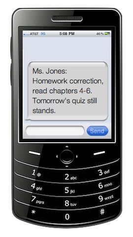 Technology Ideas for Teachers - Use Remind 101 to text reminders to students. Some cool ideas - more for junior or high school