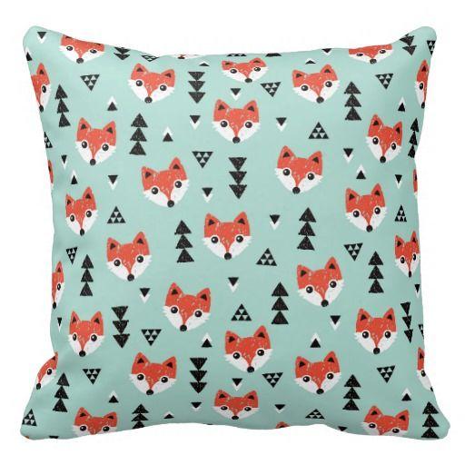 Fox geométrico del bebé almohadas