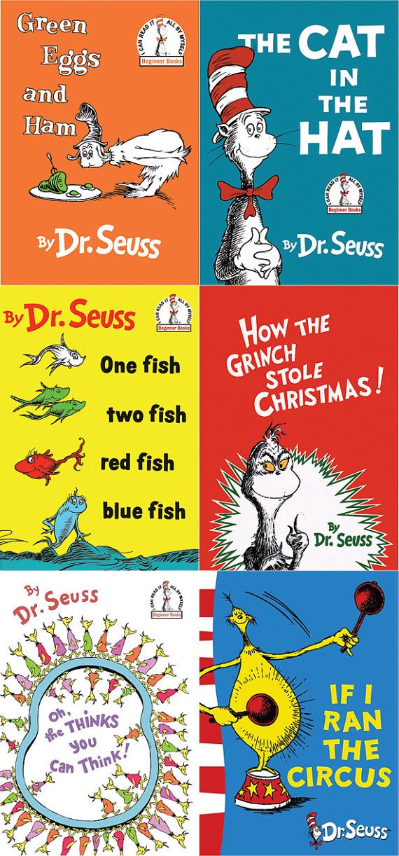 Dr. Seuss Book Cover Set by AmpersandCreations on Etsy