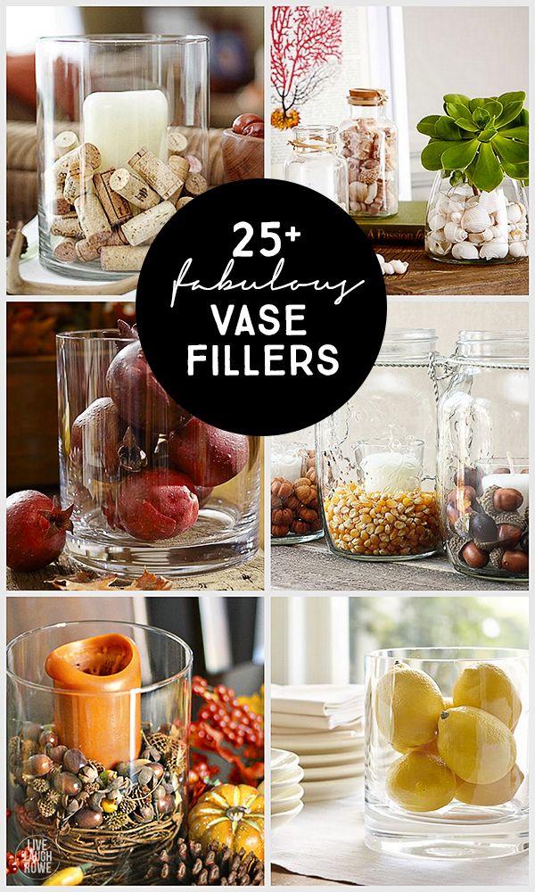 25 Vase Filler Ideas Live Laugh Rowe Crafts Pinterest Vase
