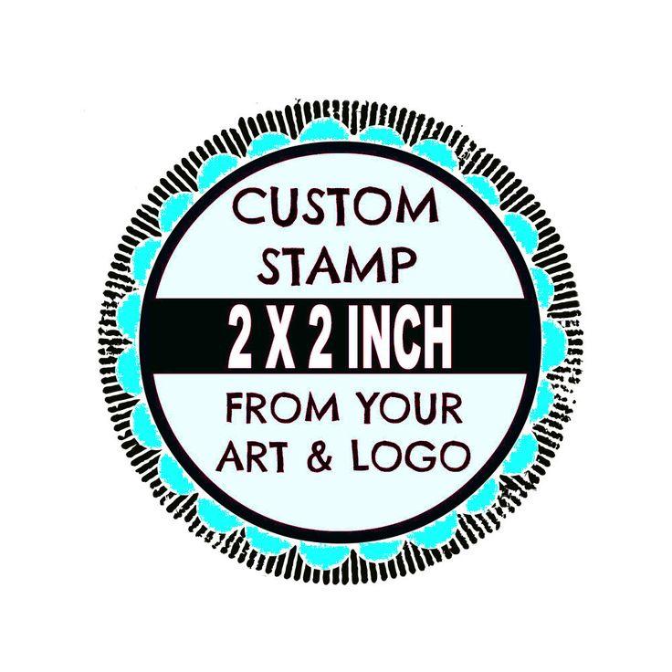 Custom Stamp - Custom Logo Stamp - Custom Rubber Stamp - Branding Stamp 2x2 inches by DoodleStamp on Etsy