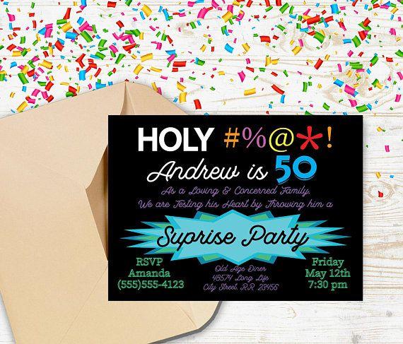Best Milestone Birthday Invitation Ever