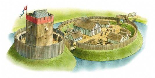 A motte-and-bailey castle