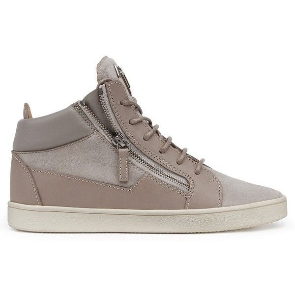Giuseppe Zanotti Kriss (39395 DZD) ❤ liked on Polyvore featuring shoes, sneakers, grey, lace up, grey sneakers, gray shoes, giuseppe zanotti trainers, laced sneakers and giuseppe zanotti