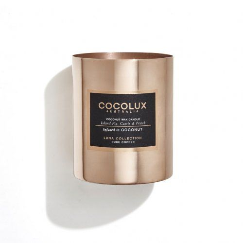 Cocolux Candle - Island Fig, Cassis & Peach infused in Coconut 350g