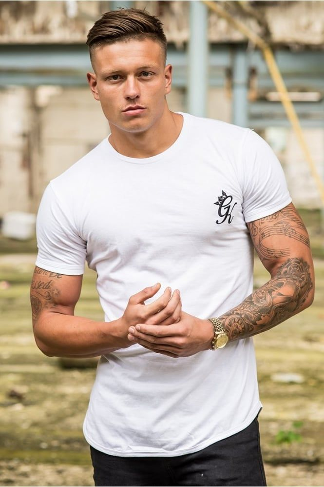 db36a93f8 Longline Fitted T-Shirt White | Faces | Shirts, T shirt, Mens tops