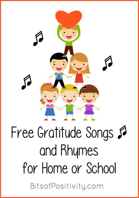Lots of gratitude songs for kids throughout the year - general gratitude songs, Thanksgiving gratitude songs, and religious gratitude songs; perfect for home or classroom for a variety of ages