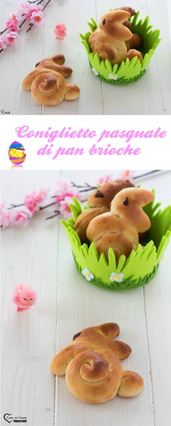 Coniglietto pasquale di pan brioche